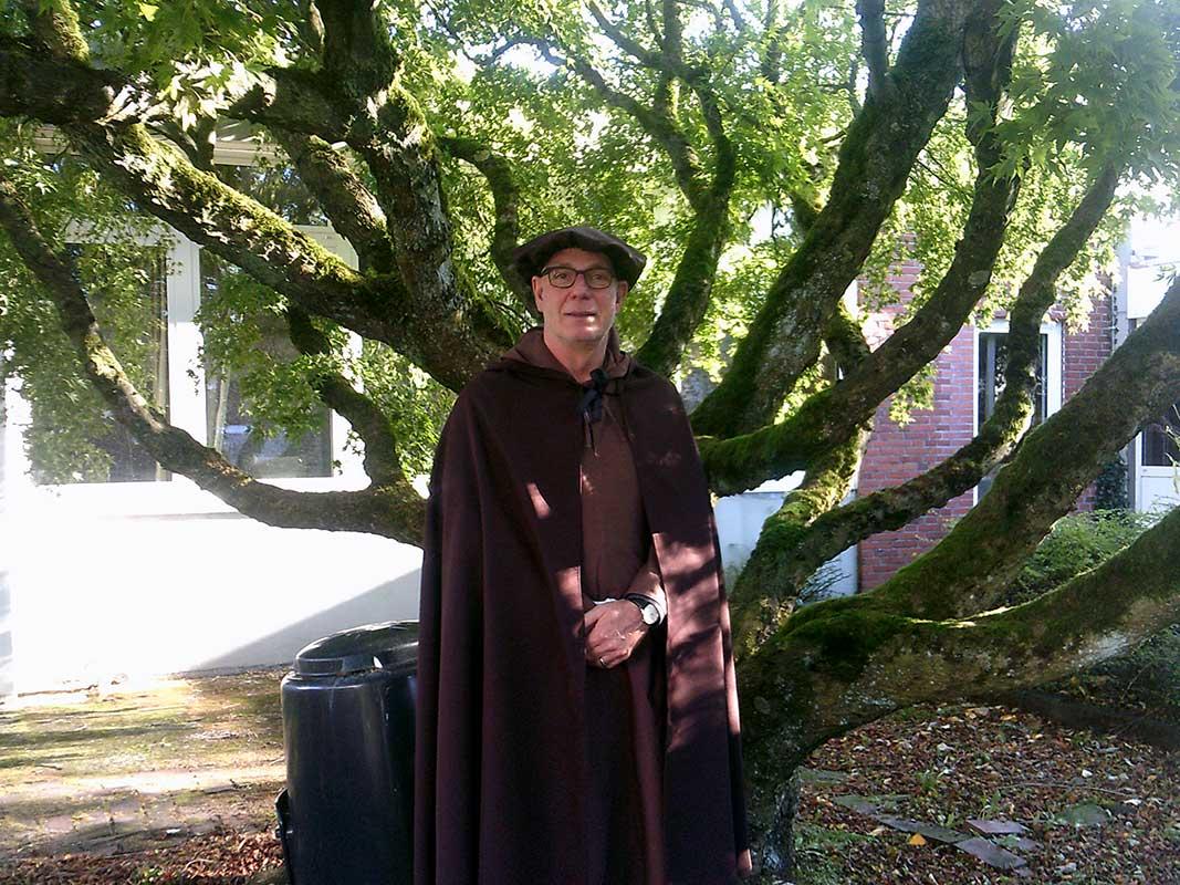 Unser Schulleiter als Martin Luther